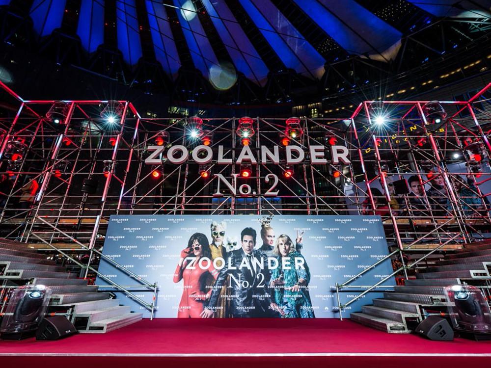 Zoolander 2, STL Berlin, Beleuchtung, Veranstaltungsservice