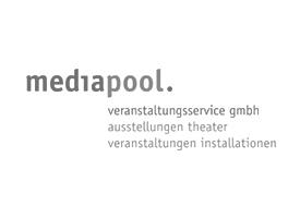 Logo mediapool, STL Berlin, Beleuchtung, Veranstaltungsservice